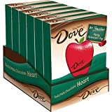 DOVE Valentine's Milk Chocolate Solid Heart Teacher's Gift 4-Ounce Heart 6-Count Box