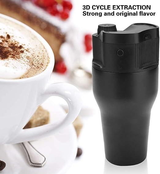 Máquina de café eléctrica, 550 ml Mini portátil para el hogar Viaje al aire libre USB Espresso Cápsula de café Máquina de filtro de café molido Cafetera de viaje: Amazon.es: Hogar