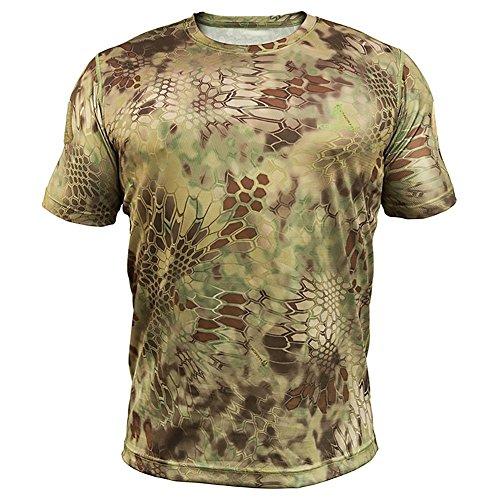 Kryptek Men's Stalker T-Shirt Short Sleeve Cotton Mandrake Camo XL