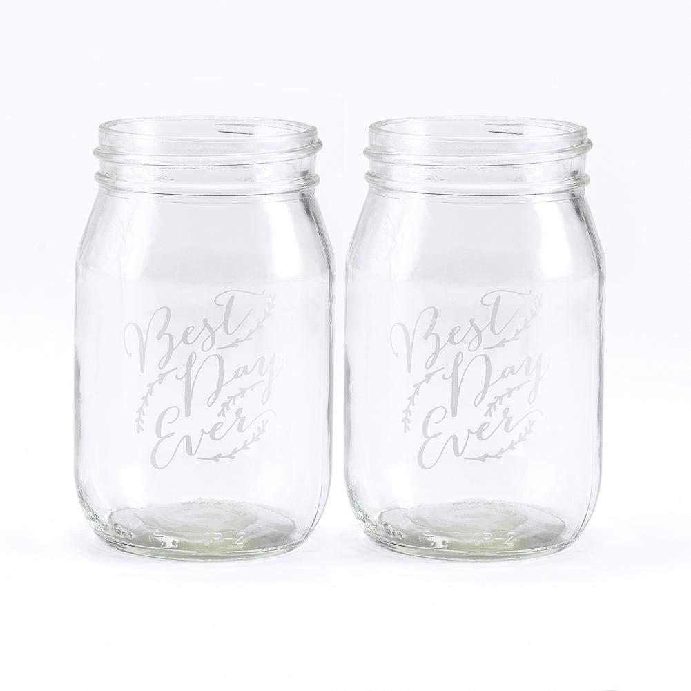 Hortense B. Hewitt Best Day Ever - Rustic Vines 16 Oz. Drinking Jars - Qty of 6