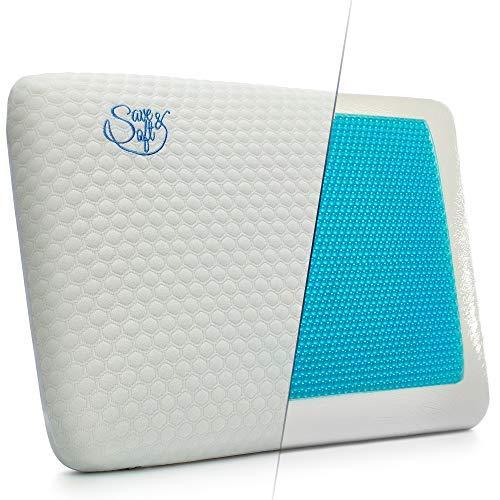 Gel Memory Foam Pillow For Men Women - Cooling Ergonomic Orthopedic Pillow For...