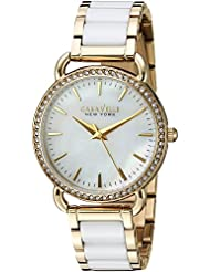 Caravelle New York Womens Quartz Stainless Steel and Ceramic Casual Watch, Color:Two Tone (Model: 44L172)