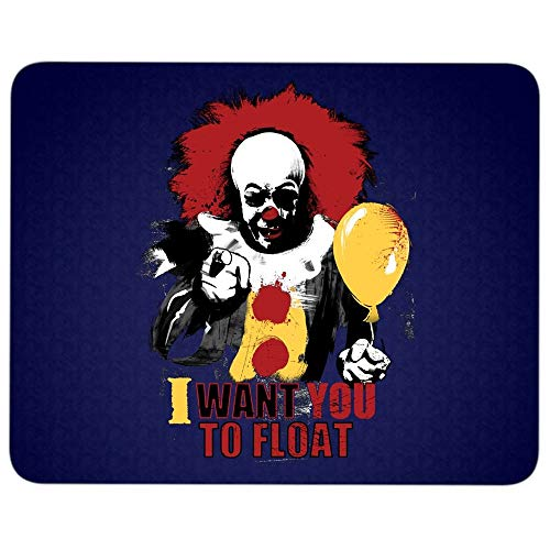 I Want You to Float Killer Clown Mouse Pad for Typist Office, I Love IT Character Quality Comfortable Mouse Pad (Mouse Pad - Navy)