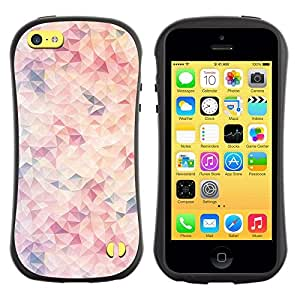 "Hypernova Slim Fit Dual Barniz Protector Caso Case Funda Para Apple iPhone 5C [Wallpaper Arte Moderno rosa claro""]"