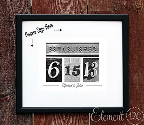 Amazon.com: Custom Wedding Date Guest Book Frame - 19\