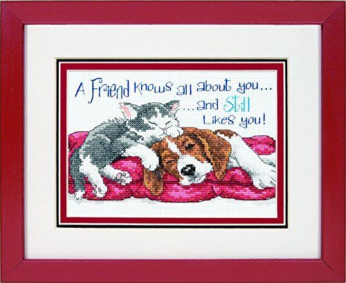 Jiffy Counted Cross Stitch Kit A Friend Knows