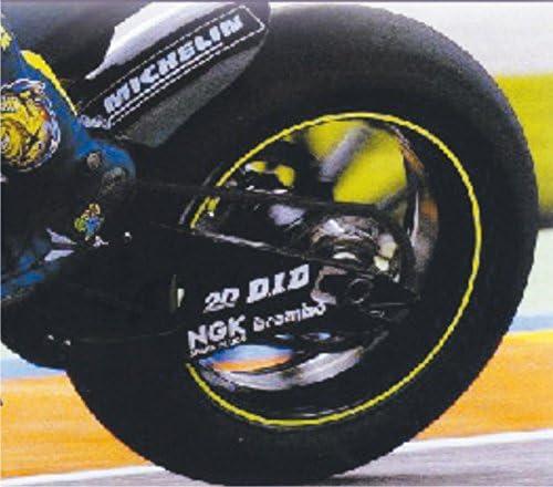 4R Motorrad Felgenb/änder Felgenrandaufkleber Gelb Reflektierend