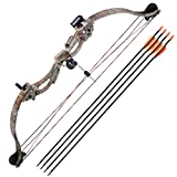 Beth Home 34'' 20lbs Youth Recurve Bow Kit Junior Archery Hunting Target w/28 Arrow Set