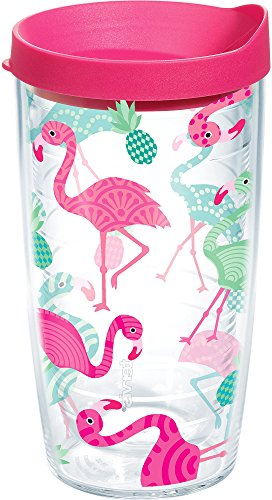 Tervis Flamingo Pattern 16oz Tumbler With Lid