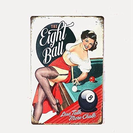 Amazon com : Light Ball Girls Painting Vintage Tin Signs