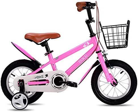 YUMEIGE Kids' Bikes 12 14 16 18 Inch Wheel Girls Bike,Kids' Children Bike (Age 5 to 8 Years),Kids' Freestyle Bike Children's Gift 3 Colors Available (Color : Pink, Size : 18in)