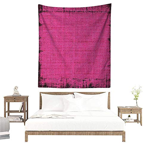 alisoso Wall Tapestries Hippie,Magenta Decor,Futuristic Design in Old Impressions Latex Grungy Murky Surface Pastel,Fuchsia Pink W63 x L63 inch Tapestry Wallpaper Home Decor