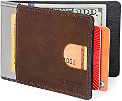 HUSKK Leather Wallet for Men - Credit Card Sleeve Holder