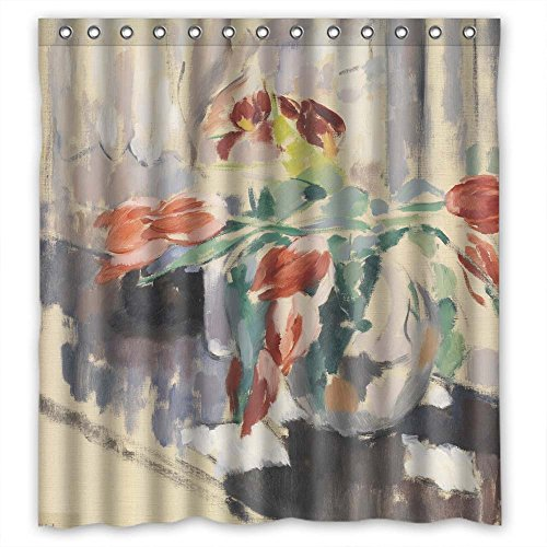 Monadicase Polyester Art Painting Rik Wouters - Tulips Bath Curtains Width X Height / 66 X 72 Inches / W H 168 By 180 Cm Gift Or Decor For Artwork Husband Boys Birthday. Modern Design - (Spring Step Allegra)