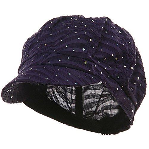SS/Sophia Glitter Newsboy Cap-Purple ()