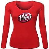 Dr Pepper Retro Logo for Women Printed Long Sleeve Cotton T-shirt