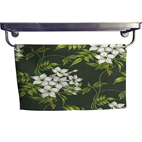 - Leigh home Dry Fast Towel, backgroun Jasmine Flowers Design for Fabrics Textiles Paper Wallpaper Web ,Gym Swim Hotel Use W 27.5