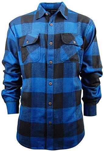 Mens Classic Plaid Button Down Shirt | Heavyweight Cotton Flannel