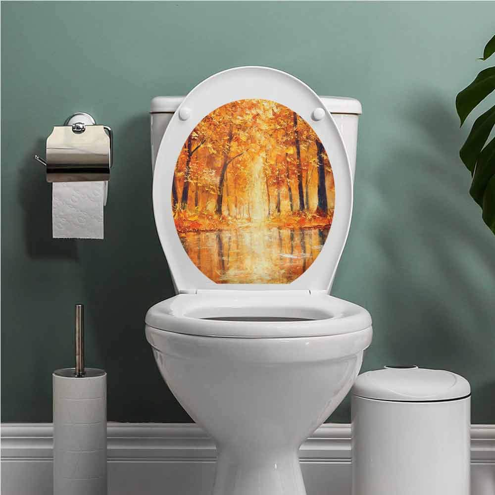 Admirable Amazon Com Auraise Heybee Country Toilet Seat Tattoo Cover Theyellowbook Wood Chair Design Ideas Theyellowbookinfo