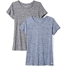 Amazon Essentials Women's 2-Pack Tech Stretch Short-Sleeve Crew T-Shirt