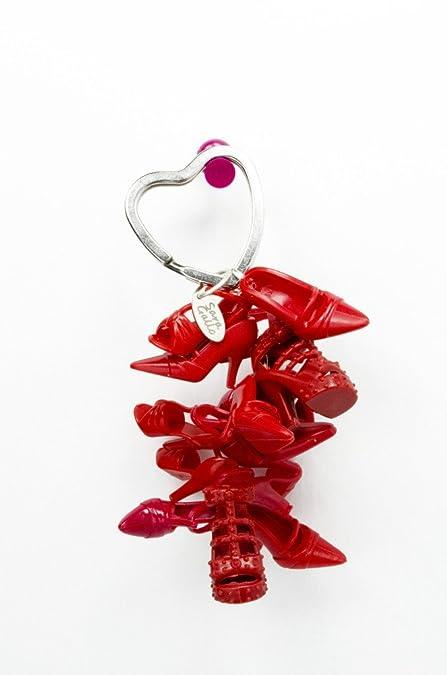 Amazon.com: Rojo Lipstick muñeca Shoe Llavero: Jewelry