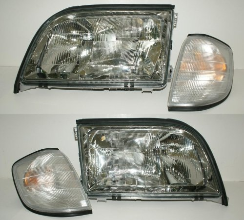 Mercedes S Class W140 1993-1995 HeadLights with Corner for sale  Delivered anywhere in USA