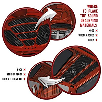 STANDARTPLAST Black Silver 49 sqft 80 mil Sound Deadening Noise Control Adhesive Car Butyl Material: Automotive
