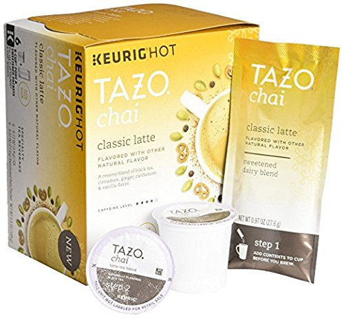 Tazo classic latte flavored tea k cup pods 9ct
