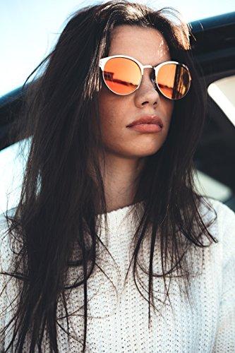 mujer sol Negro espejo redondo hombre PISSARRO Azul de TWIG Gafas W0Uw78qO67