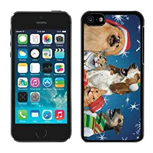 MMZ DIY PHONE CASECustom-ized Design iphone 6 4.7 inch TPU Case Christmas Dog and Cat Black iphone 6 4.7 inch Case 2
