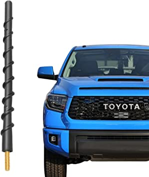Black Double Cab 1794 Edition TRD or TRD Pro XK30//XK40 ,XK50 CrewMax Will fit Any Toyota Tundra SR5 The Stubby TRD Bullet Style Antenna for Toyota Tundra All Models