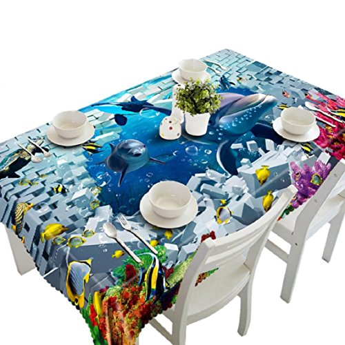 Ikevan 3D Dining Multi Functional Table Cloth Picnic Tablecloth Table Mat Soft (New Tablecloth)