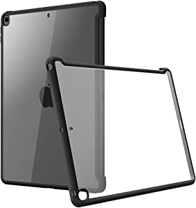 i-Blason Case for iPad 8th/7th Generation 10.2 2020/2019, Compatible with Official Smart Cover and Smart Keyboard, Clear Slim Hybrid Case Cover for iPad 10.2 2019 / 2020 Release (Black)