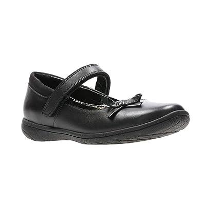 451832a5851 Clarks s Venture Star Junior Black Leather Girls Velcro Strap School Shoes  (F) - 26134911  Amazon.co.uk  Shoes   Bags