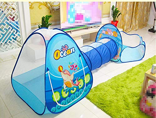 Toys & Hobbies Outdoor Fun & Sports Toys Tunnel Tent Ocean Series Cartoon Game Ball Pits Portable Pool Foldable Children Outdoor Sports Educational Toy With Basket