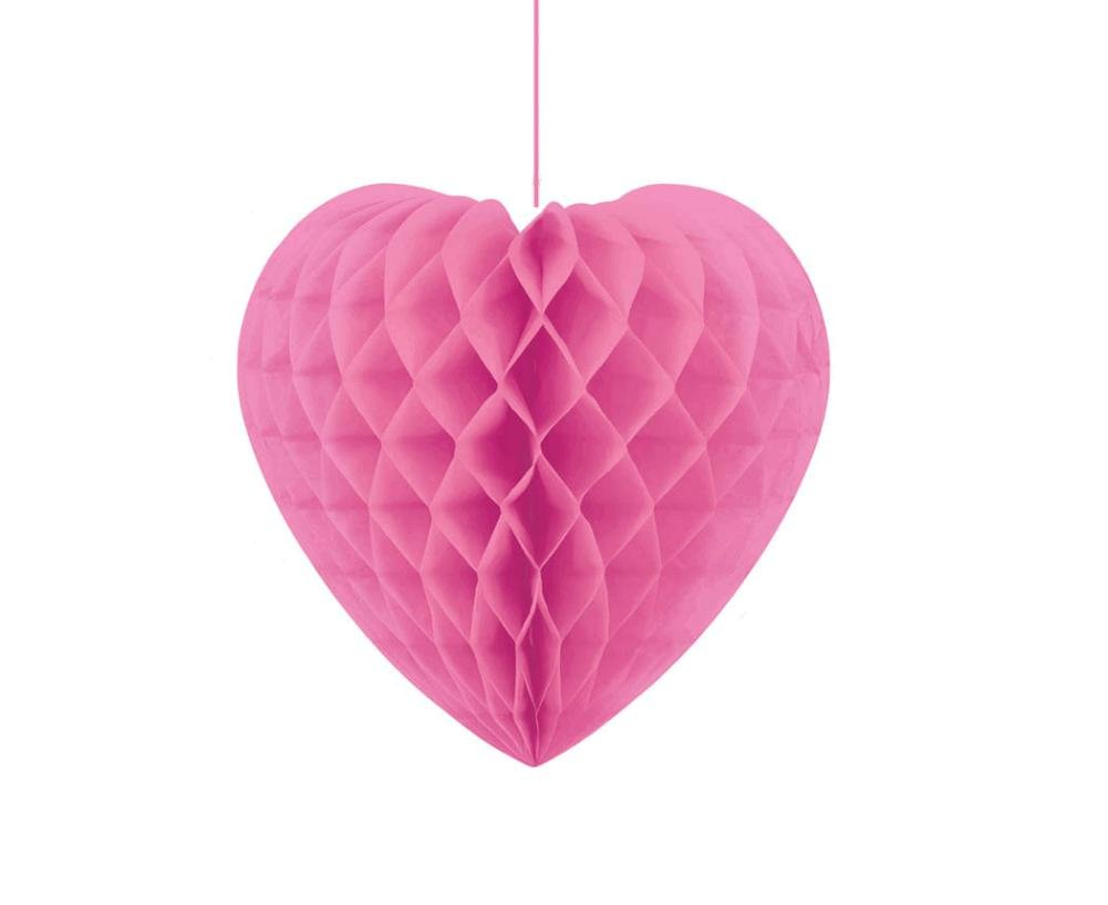 Amscan International Decorative Heart Honeycomb, Pink 290009