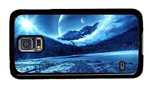 Hipster Samsung Galaxy S5 Case case mate fantasy winter scenery PC Black for Samsung S5
