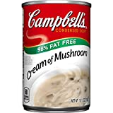 :Campbell's 98% Fat Free Condensed Soup, Cream of Mushroom, 10.5 Ounce (Pack of 12)