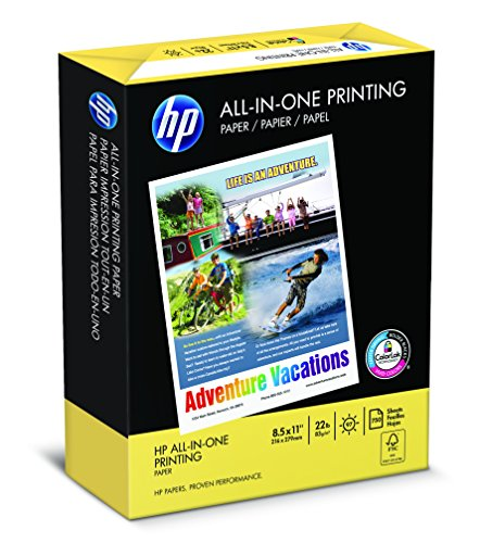 HP Paper, All-In-One Printing Poly Wrap, 22lb, 8.5x11, Letter,  97 Bright, 750 Sheets BONUS REAM/ 1 Ream (907750/207750) Made In The USA