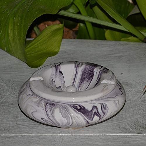 Cendrier marocain Anis marbr/é violet et blanc Moyen Mod/èle