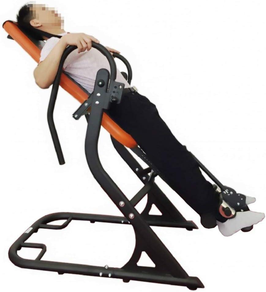 自己フィットネス ジム設備 機能的 家庭用フィットネス機器逆さまマシン逆さま機器スポーツコンビネーション機器倒立椅子 (色 : 黒 オレンジ, サイズ : 160*70*115CM) 黒 オレンジ 160*70*115CM