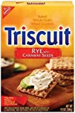 Triscuits, Rye with Caraway Seeds, 9.5-Ounce Boxes (Pack of 12)