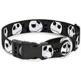 Buckle-Down ''Nightmare Before Christmas Jack Expressions'' Martingale Dog Collar, Gray, 1''/9-15''/Small