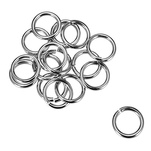 Housweety 100PCs Silver Tone Stainless Steel Open Jump Rings 15mm(5/8
