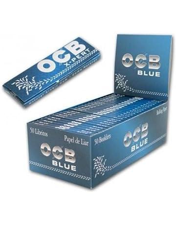 OCB X-Pert Expert - Papel azul, corte, 50 libritos (sin nicotina
