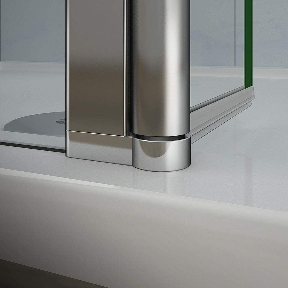 AICA paroi de douche pivotante 50x200cm+30x200cm avec une barre stabilisateur paroi lat/érale /à litalienne