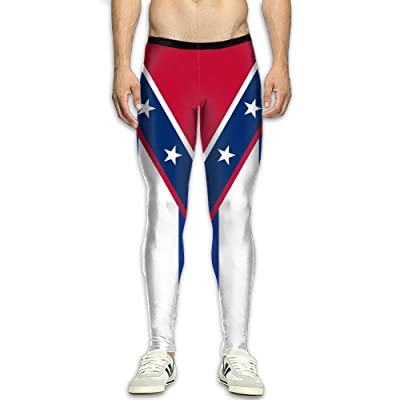 Kuswaq Flag Of Cuba (Southern Independence) Attractive Men's Athletic Running Pants Sport Pants \r\n Training Pant Sports Compression Tight Leggings