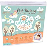Organic Crib Mattress Cover Pad – Waterproof and Breathable Bamboo Baby Mattress Pad - Fits ALL Standard Crib Sizes