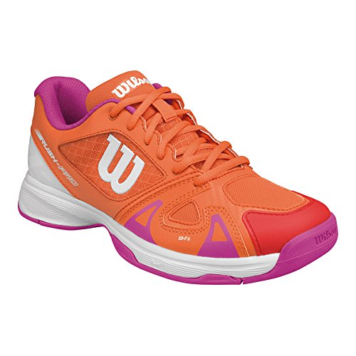 Image of Wilson Kids Unisex Jr Rush Pro 2.5 (Size XX) Nasturtium/White/Rose Violet Athletic Shoe