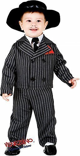 Italian Made Deluxe 5 Piece Baby & Older Boys 1920s Gangster Suit Fancy Dress Costume Outfit 0-12 Years (1 ()
